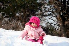 Het spelen in de Sneeuw Stock Afbeeldingen