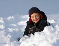 Het spelen in de Sneeuw Stock Foto
