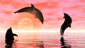 Het spelen dolfijnen vector illustratie