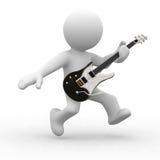 Het spelen gitaar Royalty-vrije Stock Foto's