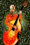 Het spelen gitaar royalty-vrije illustratie