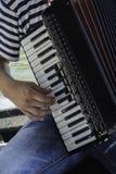 Het spelen harmonika royalty-vrije stock foto's