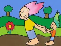 Het spelen in het Park vector illustratie