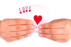 Het spelen met liefde Stock Foto