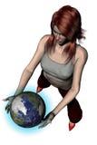 Het spelen met Wereld 04 royalty-vrije illustratie
