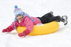 Het spelen op sneeuw Stock Foto's