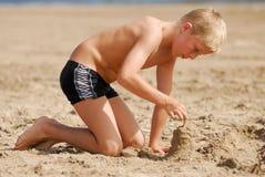 Het spelen op strand 7 Royalty-vrije Stock Fotografie
