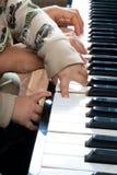 Het spelen piano Stock Afbeelding
