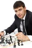 Het spelen schaak royalty-vrije stock foto