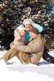 Het spelen in sneeuw Royalty-vrije Stock Fotografie