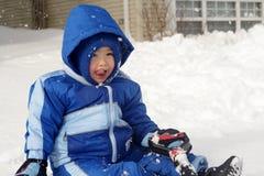 Het spelen in Sneeuw Royalty-vrije Stock Foto's