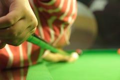 Het spelen snooker Royalty-vrije Stock Afbeelding