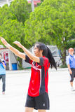 Het spelen sporten voor gezondheid Stock Fotografie