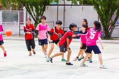 Het spelen sporten voor gezondheid Stock Afbeeldingen