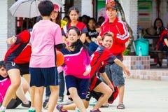 Het spelen sporten voor gezondheid Stock Foto