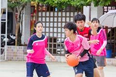 Het spelen sporten voor gezondheid Stock Afbeelding
