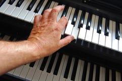 Het spelen toetsenborden Royalty-vrije Stock Foto