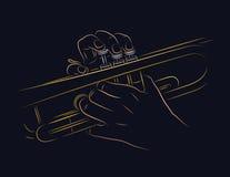 Het spelen trompet Royalty-vrije Stock Foto