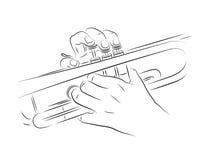 Het spelen trompet Royalty-vrije Stock Fotografie