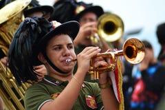 Het spelen trompet Royalty-vrije Stock Afbeelding