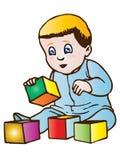 Het spelen van de baby royalty-vrije illustratie