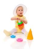 Het spelen van de baby royalty-vrije stock afbeelding