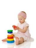 Het spelen van de baby royalty-vrije stock foto