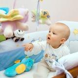 Het spelen van de baby Royalty-vrije Stock Foto's