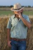 Het Spelen van de cowboy Harmonika royalty-vrije stock fotografie
