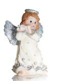 Het spelen van de engel op een fluit Stock Foto
