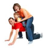 Het spelen van de familie Royalty-vrije Stock Foto