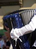Het spelen van de harmonika Stock Foto's