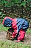 Het spelen van de jongen met logboek Stock Fotografie