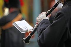 Het spelen van de klarinet Royalty-vrije Stock Foto