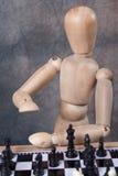 Het spelen van de ledenpop schaak Royalty-vrije Stock Afbeeldingen