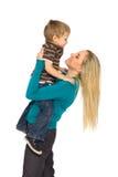 Het Spelen van de moeder met Zoon Royalty-vrije Stock Afbeeldingen