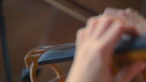Het spelen van de musicus viool stock videobeelden