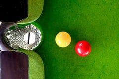 Het spelen van de snooker royalty-vrije stock foto