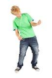 Het spelen van de tiener luchtgitaar Stock Foto