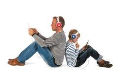 Het spelen van de vader en van de zoon Royalty-vrije Stock Foto