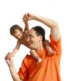 Het spelen van de vader met zoon Royalty-vrije Stock Afbeeldingen