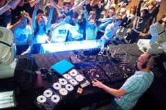Het spelen van DJ Royalty-vrije Stock Fotografie