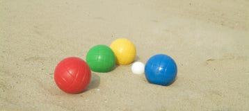 Het spelen van een balspel Royalty-vrije Stock Foto