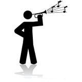 Het spelen van een bugel royalty-vrije illustratie