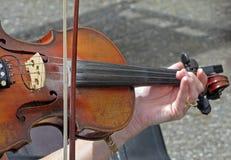 Het spelen van Fiddle Stock Fotografie