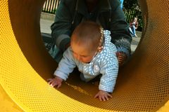 Het Spelen van het kind Stock Afbeelding