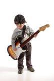 Het spelen van het kind gitaar Royalty-vrije Stock Afbeeldingen