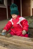 Het spelen van het kind in kleuterschool Royalty-vrije Stock Fotografie