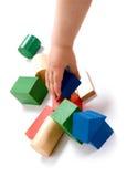 Het spelen van het kind speelgoed Stock Foto