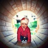 Het spelen van het meisje Royalty-vrije Stock Foto